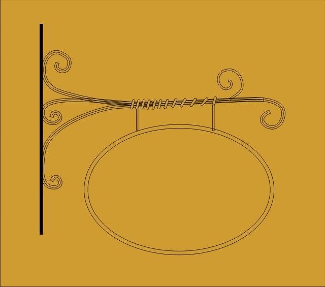 Vývěsní štít - kovaný - 3